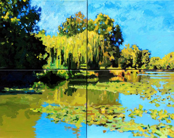 Forest Park Lake - Paintings by John Lautermilch