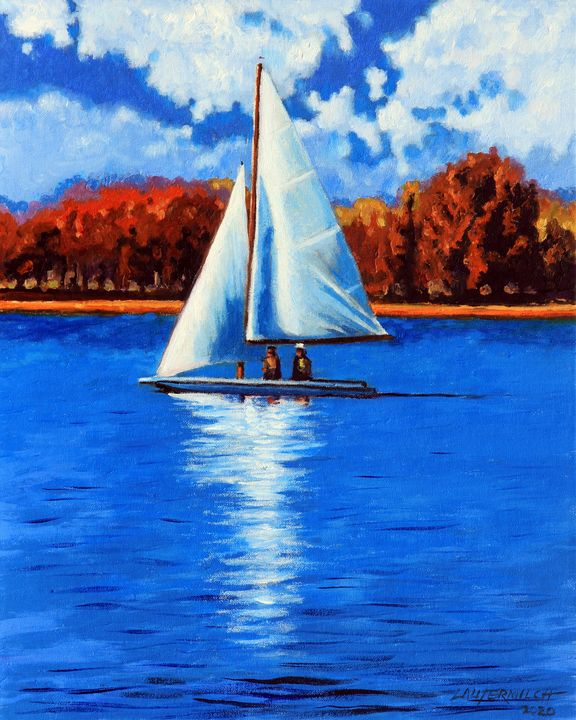 A Day Sailing - Paintings by John Lautermilch