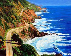 Scenic Road Home - Paintings by John Lautermilch