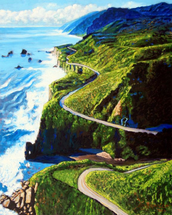 The Beauty Along HWY 1 - Paintings by John Lautermilch