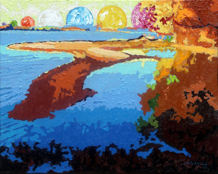 Island of Consciousness - Paintings by John Lautermilch