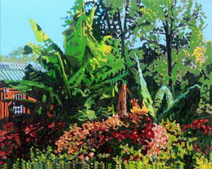 Piper Palm House - Paintings by John Lautermilch