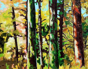 Painted Forest - Paintings by John Lautermilch