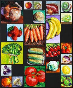 Eat Your Vegies and Fruit - Paintings by John Lautermilch