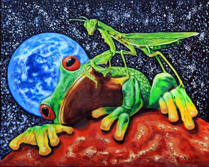 Aliens On Mars - Paintings by John Lautermilch