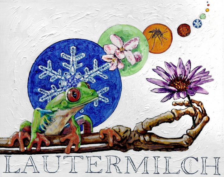 Froggy Seeking Eternal Life - Paintings by John Lautermilch