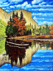 Cabin In The Mountains - Paintings by John Lautermilch