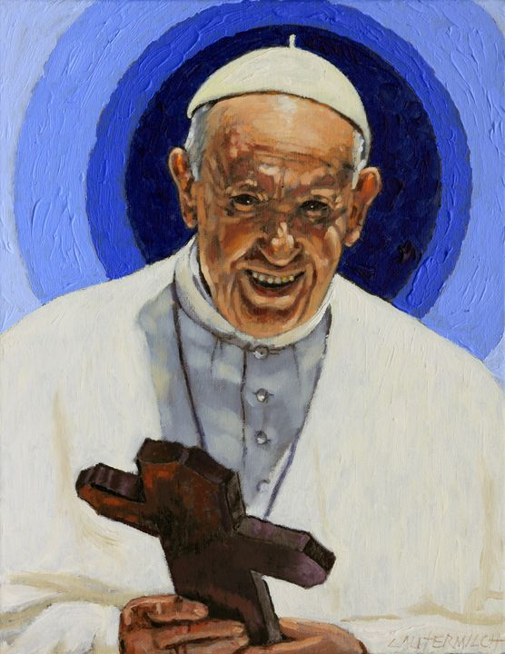 Pope Francis - Paintings by John Lautermilch