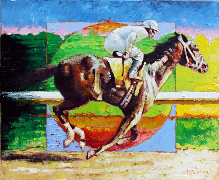 Running from the Darkness - Paintings by John Lautermilch