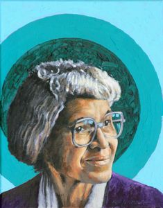 Rosa Parks - Paintings by John Lautermilch