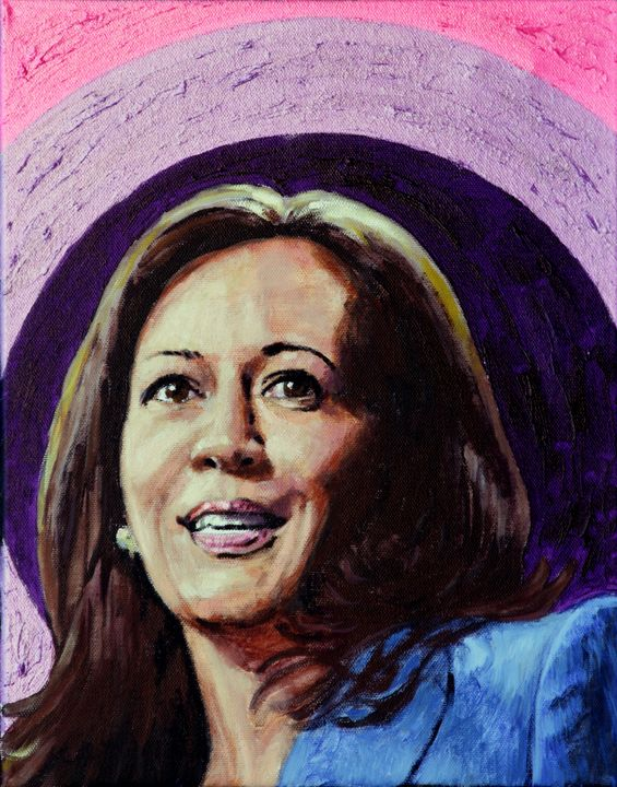 Kamala Harris - Paintings by John Lautermilch