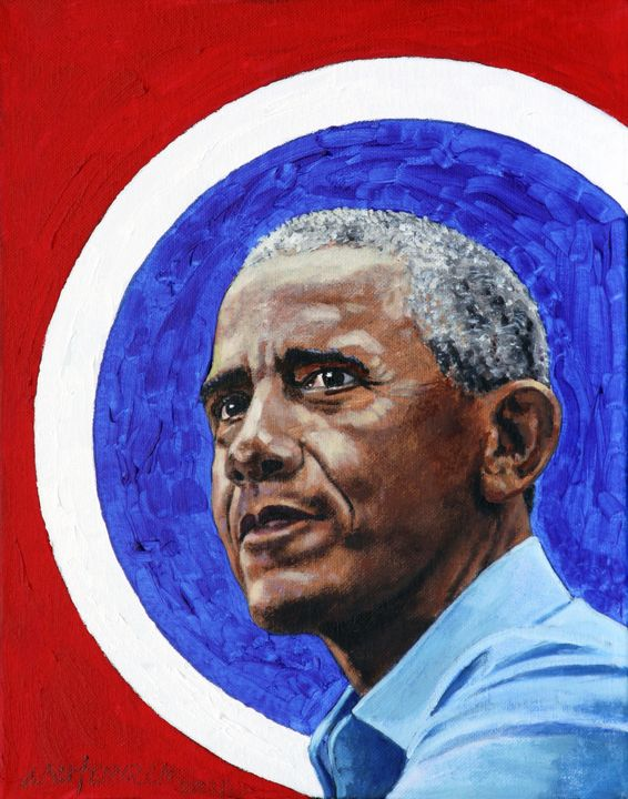 Barack Obama - Paintings by John Lautermilch