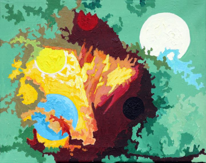 Autumn Planets - Paintings by John Lautermilch