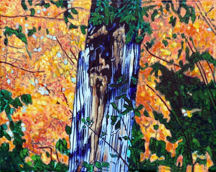 Old Tree in Autumn - Paintings by John Lautermilch