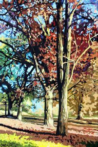 Autumn in Bridgeton Park - Paintings by John Lautermilch