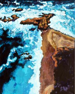 Flight Over Ocean - Paintings by John Lautermilch