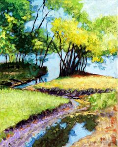 Creve Coeur Stream - Paintings by John Lautermilch