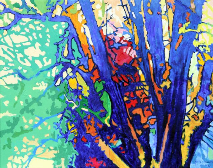 Autumn In The Woods - Paintings by John Lautermilch