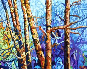 Trees In A Row - Paintings by John Lautermilch