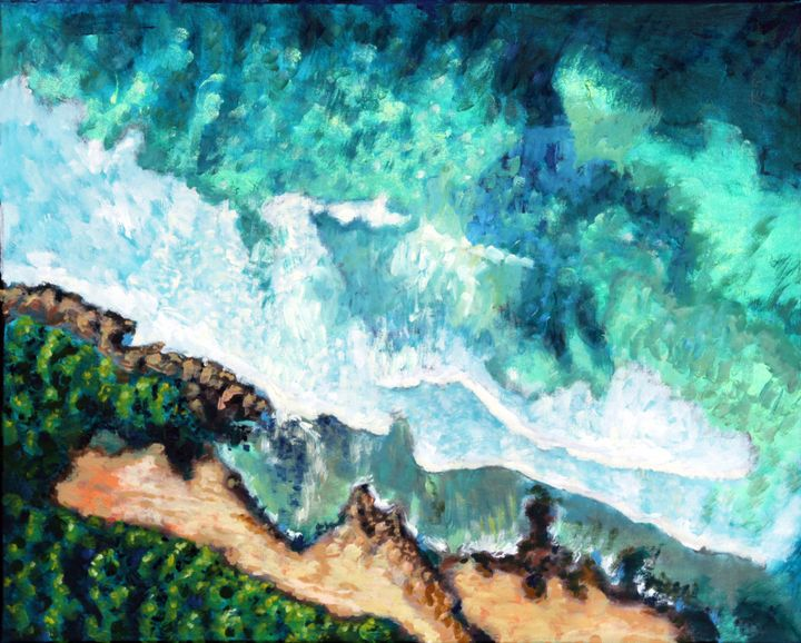 Ocean Waves - Paintings by John Lautermilch