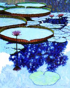 Blue Reflections - Paintings by John Lautermilch