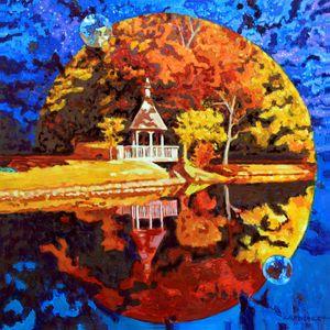Autumn Orbit - Paintings by John Lautermilch