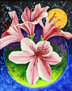 Rhododendron Orbit - Paintings by John Lautermilch