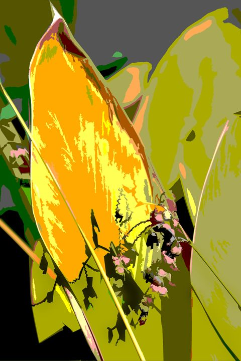 Leaf Abstraction 2 - Paintings by John Lautermilch
