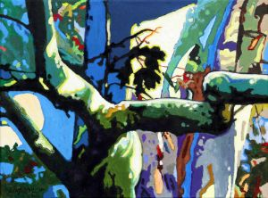 Sycamore Highlights - Paintings by John Lautermilch