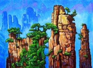 China Mountains - Paintings by John Lautermilch