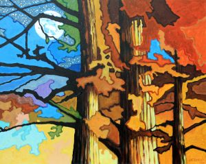 Autumn Night - Paintings by John Lautermilch