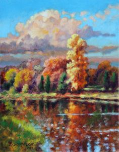 Fall In Missouri - Paintings by John Lautermilch