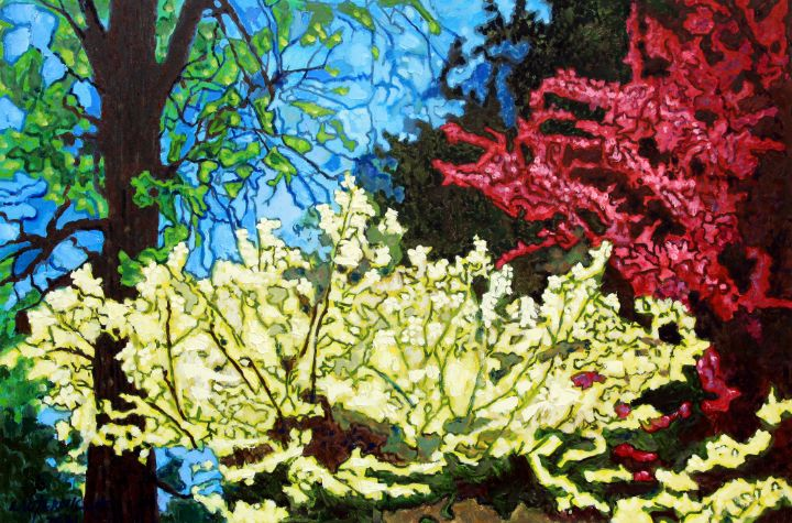 Dogwood and Redbud - Paintings by John Lautermilch