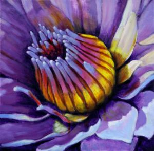 Gold on Purple - Paintings by John Lautermilch