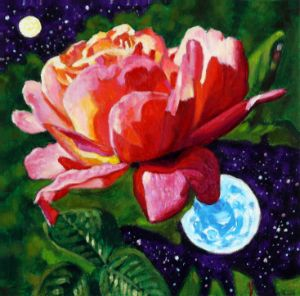 Rose In The Universe - Paintings by John Lautermilch