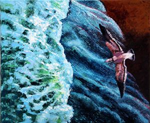 Waves of Freedom - two - Paintings by John Lautermilch