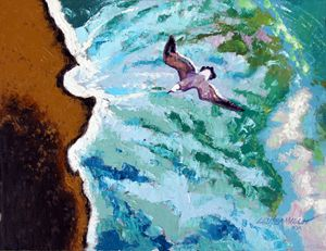 Waves of Freedom - Three - Paintings by John Lautermilch