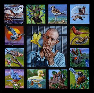 Bird Man of Alcatraz - Paintings by John Lautermilch