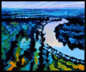 Wandering River - Paintings by John Lautermilch