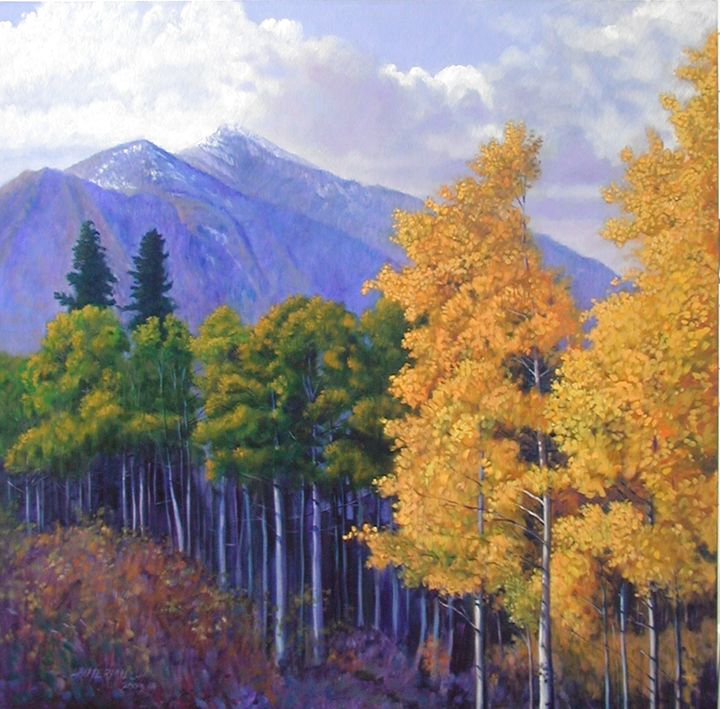 Colorado Aspens - Paintings by John Lautermilch