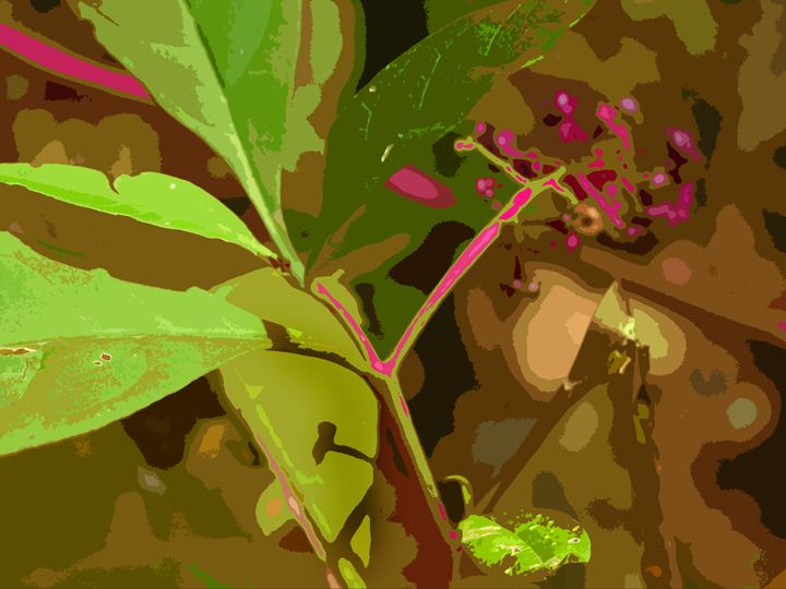 Leaf Abstraction 4 - Paintings by John Lautermilch