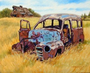Out to Pasture - Paintings by John Lautermilch
