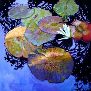 Lily Pad Palettes - Paintings by John Lautermilch