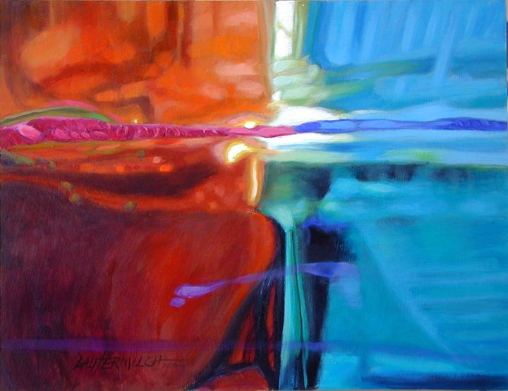 Abstract #90 - Paintings by John Lautermilch
