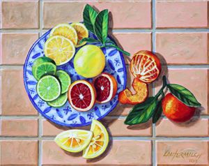 Give Us This Day our Daily Fruit - Paintings by John Lautermilch