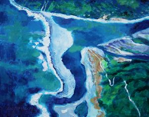 Somewher Over Hawaii - Paintings by John Lautermilch