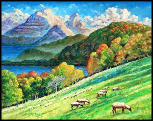 In God's Green Pastures - Paintings by John Lautermilch