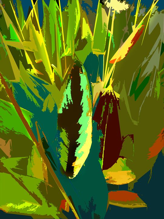 Leaf Abstraction 6 - Paintings by John Lautermilch