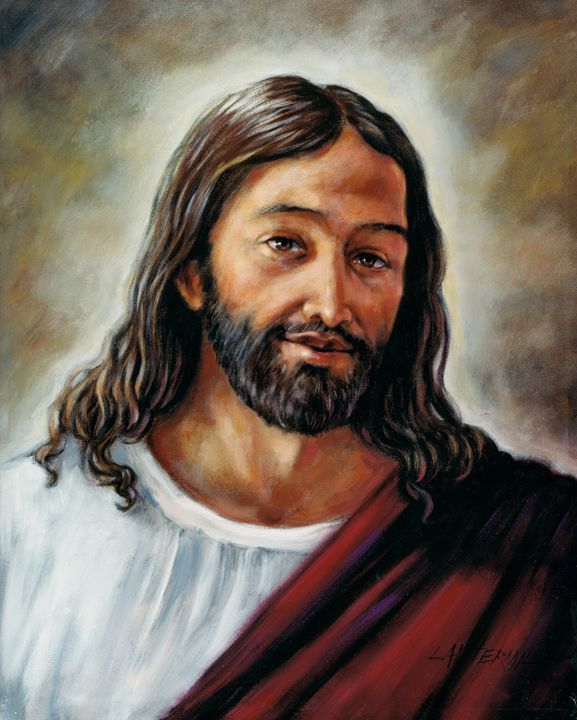 Portrait of Jesus - Paintings by John Lautermilch