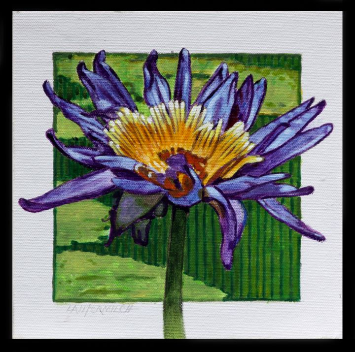 Purple and Gold Lily - Paintings by John Lautermilch